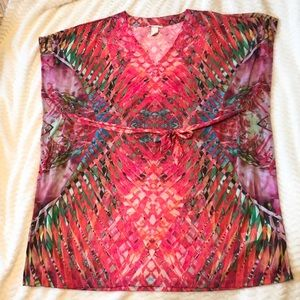NWOT H&M Tropical Beach Coverup Size S